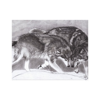 Loyalty Wolves Canvas Print