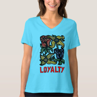 """""""Loyalty"""" Women's Relaxed Fit V-Neck T-Shirt"""