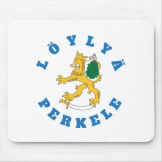 Löylyä perkele - Suomileijona saunoo - hiirimatto Mouse Pad