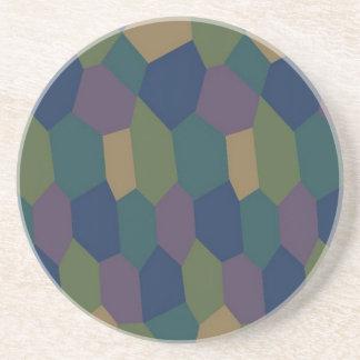 Lozenge Camouflage Coaster