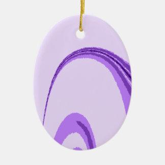 LP Flourish Design Ceramic Oval Decoration