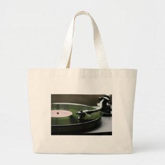 LP Record player... Large Tote Bag