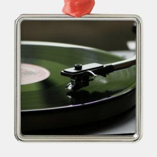 LP Record player... Metal Ornament