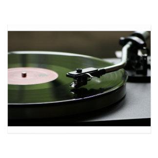 LP Record player... Postcard