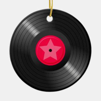 LP Record Round Ceramic Decoration