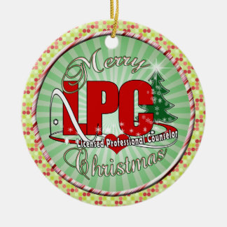 LPC CHRISTMAS  Licensed Professional Counselor Ceramic Ornament