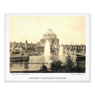 LPE12 - Grand Basin, Central Cascade and Fountain Photo Print