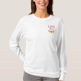 LPN 2017 White Long Sleeve Shirt Nurse Cap
