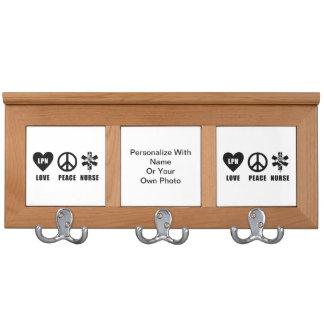 LPN Love Peace Nurse Coat Rack