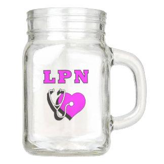 LPN Nurse Dedication Mason Jar