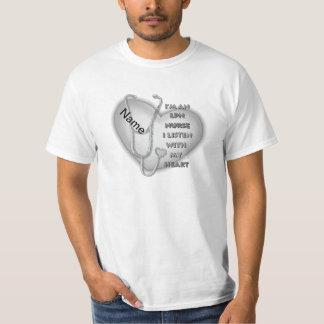 LPN Nurse Gray Heart Value T-Shirt