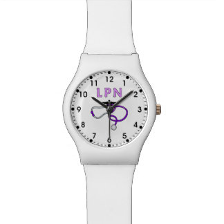 LPN Nurse Stethoscope Watch