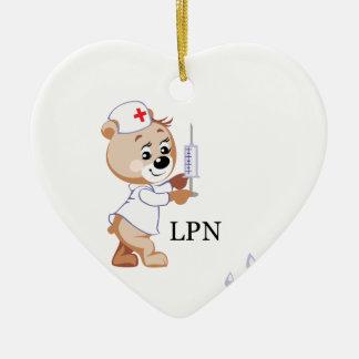 LPN Teddy Bear Christmas Tree Ornament