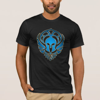 Lt Blue Greek Spartan Warrior Gold Men's T-Shirt