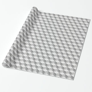 Lt Grey White Shaded 3D Look Cubes