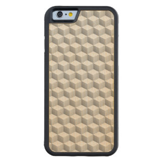 Lt Grey White Shaded 3D Look Cubes Maple iPhone 6 Bumper