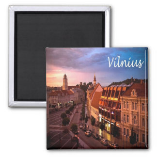 LT - Lithuania - Vilnius Square Magnet