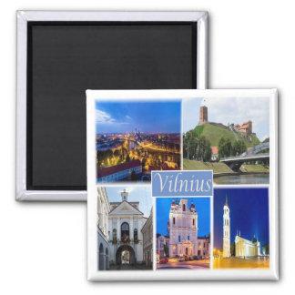 LT * Lithuania - Vilnius Square Magnet