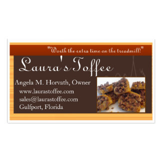 ltbcards3, Laura's Toffee, www.laurastoffee.com... Business Cards