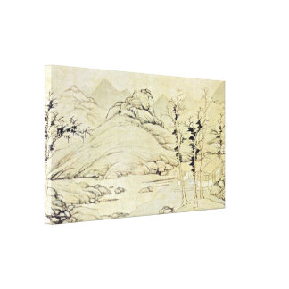 Lu Zhi - river landscape in the spring Gallery Wrap Canvas