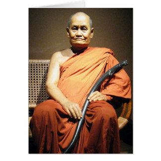 Luang Poo Cha Subhaddho ... Buddhist Monk Greeting Card