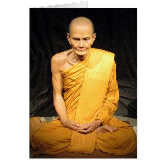Luang Poo Mun Bhuridatto ... Buddhist Monk Greeting Card