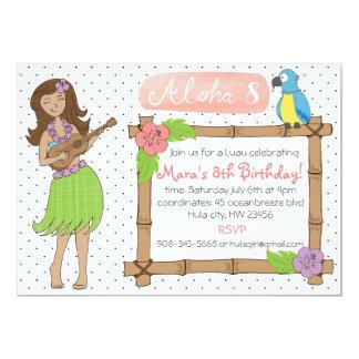 Luau Birthday party inviation Card