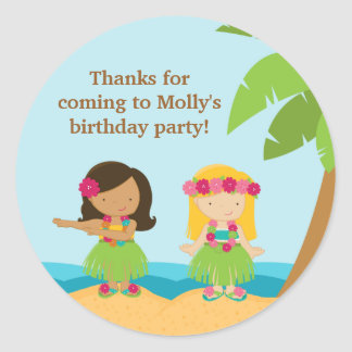 Luau Birthday Party Sticker