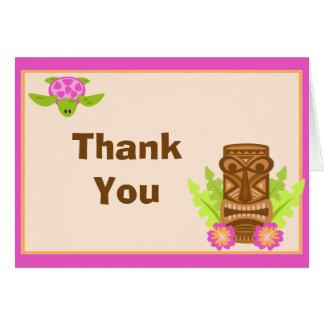 Luau Birthday Party Thank You Card