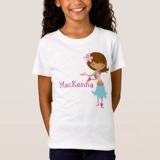 Luau Hawaii Girl personalized t-shirt