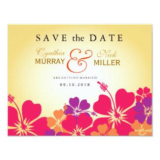 Luau / Hawaiian Save the Date Card 11 Cm X 14 Cm Invitation Card