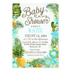 Luau Hawiian Beach Rustic Baby Shower Card