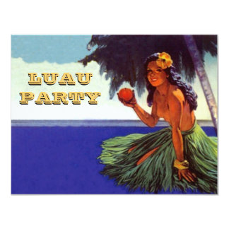 LUAU HULA DANCE PARTY INVITATION ~EZ TO CUSTOMIZE!