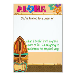 Luau Party Card