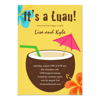 Luau Shower or Engagement Party Card