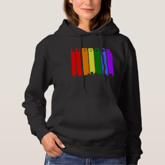 Lubbock Texas Gay Pride Rainbow Skyline Hoodie