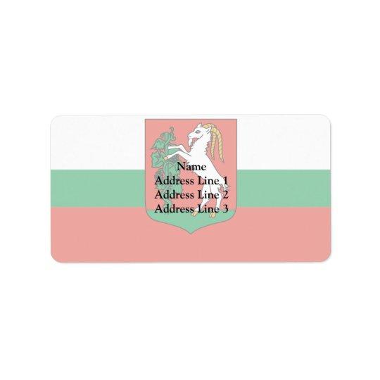 Lublin, Poland Address Label