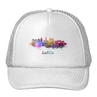 Lublin skyline in watercolor cap