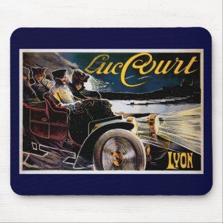 Luc Court - Vintage Automobile Advertisement Mouse Pad