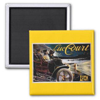 Luc Court - Vintage Automobile Advertisement Square Magnet