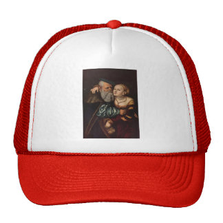 Lucas Cranach the Elder- The old man in love Hats