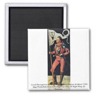 Lucas Paumgartner As Albrecht Dürer Saint Eustace Refrigerator Magnets