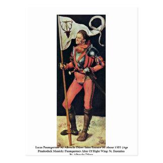 Lucas Paumgartner As Albrecht Dürer Saint Eustace Postcard