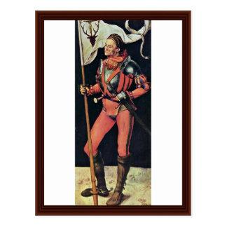 Lucas Paumgartner As Albrecht Dürer Saint Eustace Post Cards