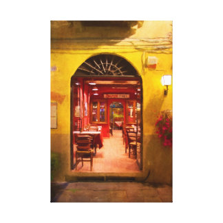 Lucca Cafe Canvas Print