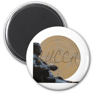 Lucca_Puccini_Italy_Tuscany 6 Cm Round Magnet