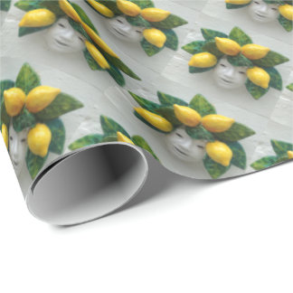 Luccan Ceramic Mask with Lemons Wrapping Paper