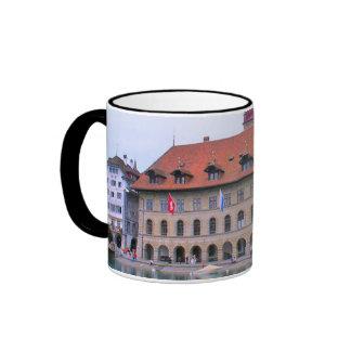 Lucerne, medieval waterfront buildings ringer mug