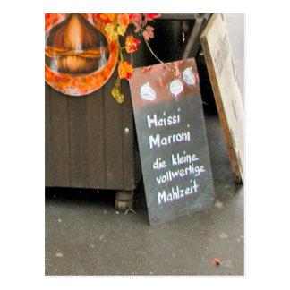 Lucerne old city - Advertising Hot chestnuts Postcard
