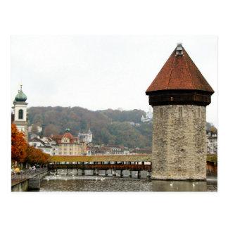 Lucerne old city - Mill bridge Postcard